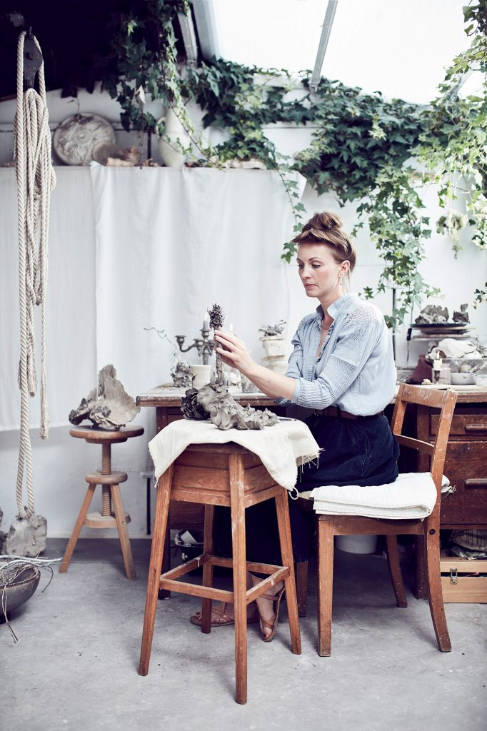 In the studio of Phoebe Cummings photographed by Alun Callender